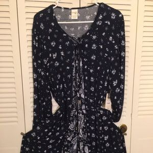 Terra & Sky woven belted peasant dress Size 16-18